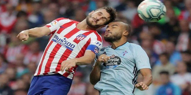 تعادل أتليتيكو مدريد سلباً مع سيلتا فيغو في دوري الدرجة الاولى الإسباني لكرة القدم