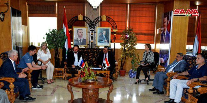 مباحثات سورية روسية لتعزيز التعاون العلمي