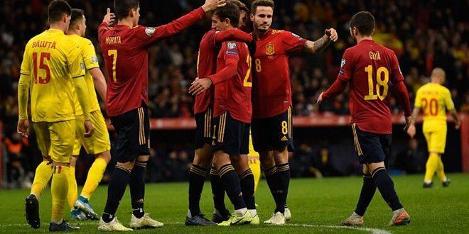 إسبانيا تقسو على رومانيا بخماسية في ختام تصفيات يورو 2020