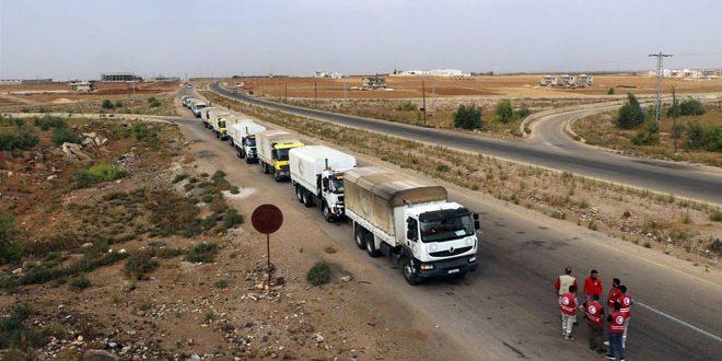 دفعة جديدة من المساعدات الغذائية لثلاث بلدات بريف درعا الشمالي