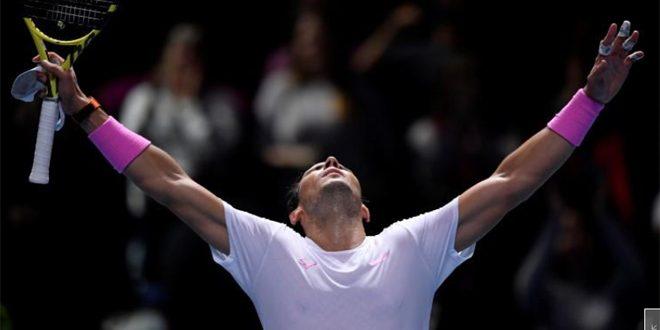 نادال يتغلب على ميدفيديف في البطولة الختامية لتنس الرجال