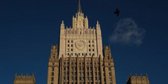 الخارجية الروسية تدين العدوان الإسرائيلي على الأراضي السورية وتعده عملا يتناقض مع القانون الدولي