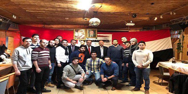 طلبتنا في سلوفاكيا: ذكرى الحركة التصحيحية حافز لإعادة إعمار سورية