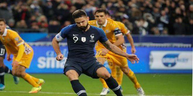 فرنسا تتغلب بصعوبة على مولدوفا في تصفيات أوروبا 2020