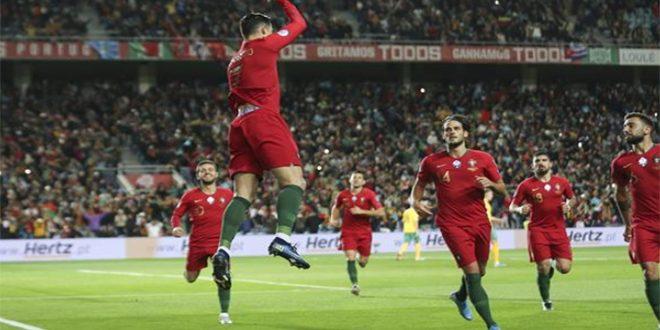 البرتغال تتغلب بسداسية على ليتوانيا في تصفيات يورو 2020