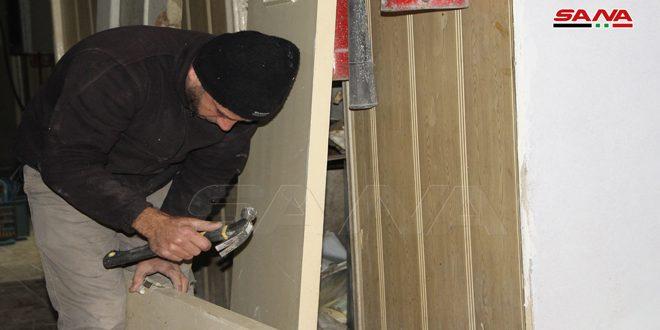 خبرة العمال تسهم في توفير 38 مليون ليرة خلال تأهيل مركز هاتف درعا