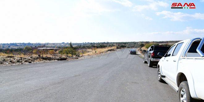 افتتاح طريق يربط بين حرفا في ريف دمشق وحضر في القنيطرة