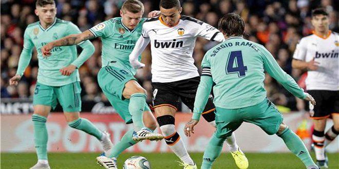 ريال مدريد يتعادل مع بلنسية 1-1 بدوري الدرجة الأولى الإسباني