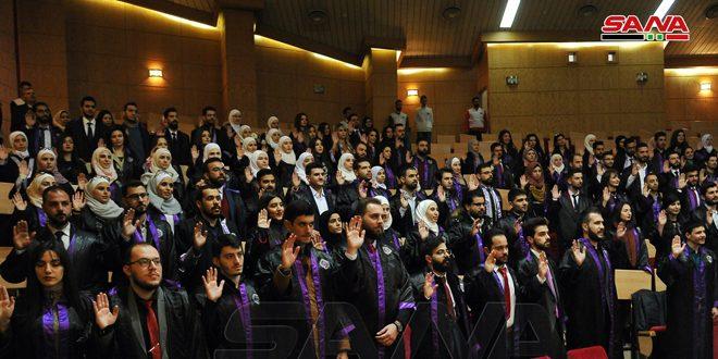 تخريج 780 طالباً من كلية الطب البشري بجامعة دمشق