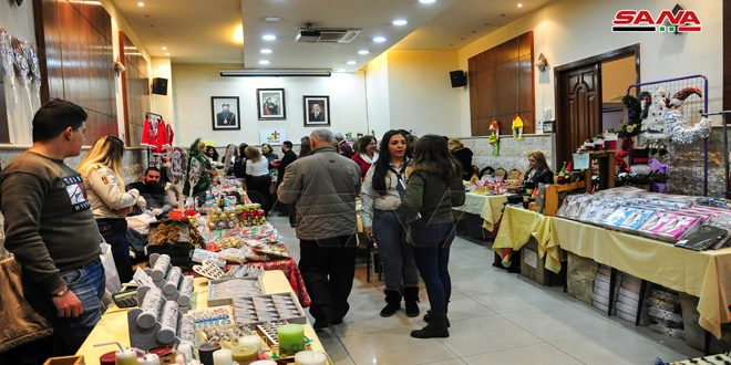 بازار الميلاد الخيري في بطريركية مار جرجس للسريان الأرثوذكس بباب توما