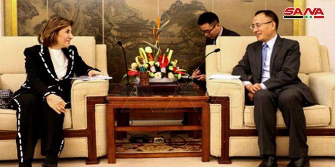 نائب وزير الخارجية الصيني لـ شعبان: مستمرون بدعم سورية والتعاون معها في مكافحة الإرهاب