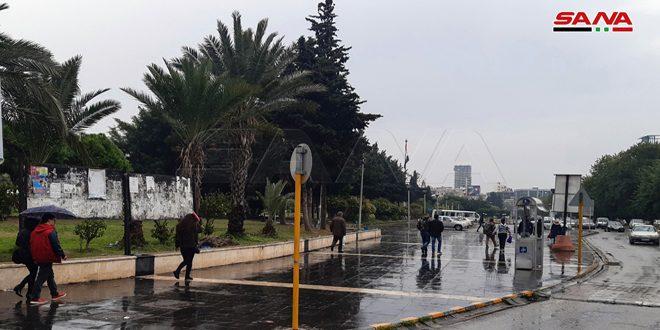 هطولات مطرية بمعظم المحافظات أغزرها في اللاذقية وطرطوس
