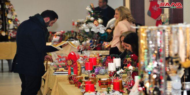 افتتاح بازار الميلاد في كاتدرائية سيدة النياح بدمشق