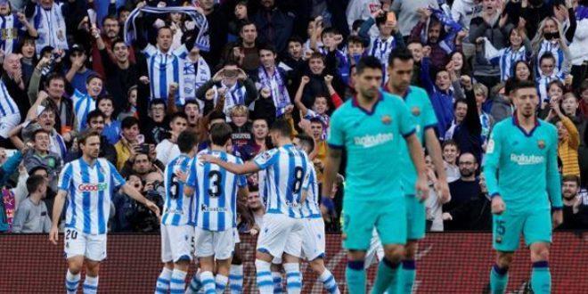 تعادل برشلونة وريال سوسيداد في الدوري الإسباني
