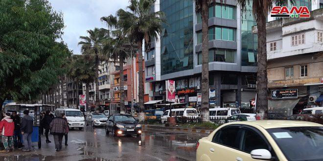 أمطار أغزرها 30مم في حمص… استمرار هطل الأمطار في أغلب المناطق وثلوج فوق 1400متر