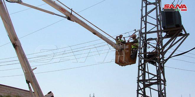 كهرباء درعا: تركيب محولتين في شارع الشهداء وحي البحار