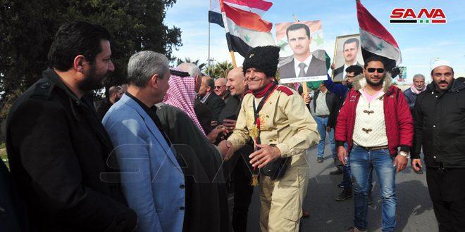 الرحالة عدنان عزام يعود إلى الوطن بعد نهاية رحلته قادماً من روسيا