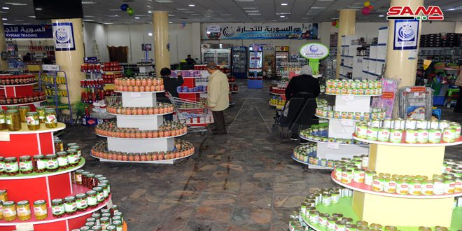 صالات السورية للتجارة تستعد لإطلاق مشروع تطبيق البطاقة الإلكترونية لتوزيع المواد الغذائية