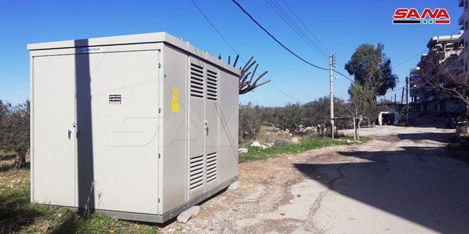 كهرباء اللاذقية: تركيب مركزي تحويل باستطاعة 1000 ك ف ا في سقوبين والدعتور
