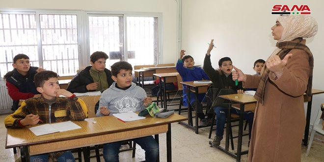 معهد التربية الخاصة للإعاقة الذهنية في درعا يعاود استقبال الطلاب من ذوي الإعاقة بعد توقفه لسنوات جراء الإرهاب