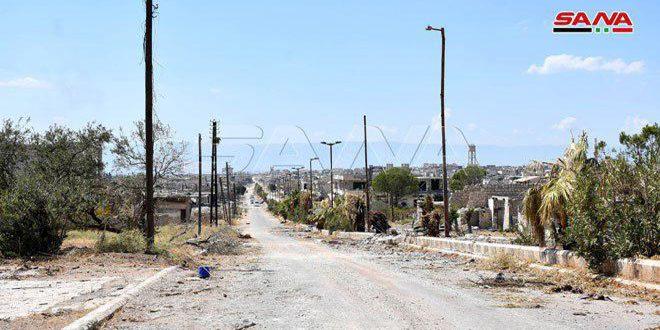 أضرار شبكة الكهرباء في كفرزيتا بريف حماة جراء الإرهاب نحو 937 مليون ليرة