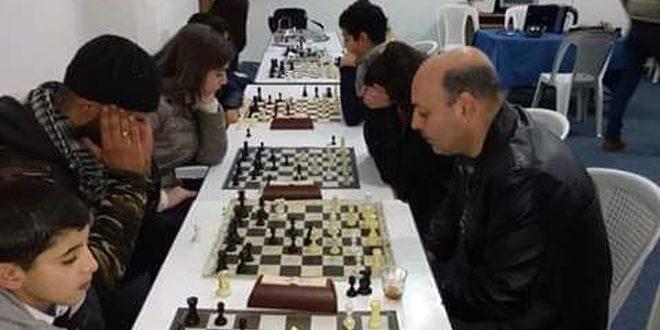 فراس الضمان يتوج ببطولة زهرة الجولان المفتوحة بلعبة الشطرنج