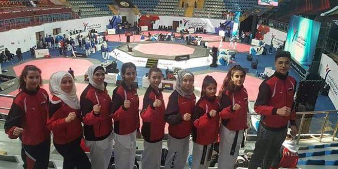 9 ميداليات لمنتخب سورية للتايكوندو في بطولة العرب