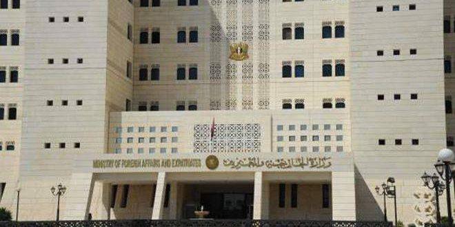 سورية تؤكد استمرارها في ممارسة واجبها بمكافحة الإرهاب وإنقاذ السوريين من ويلات وممارسات المجموعات الإرهابية