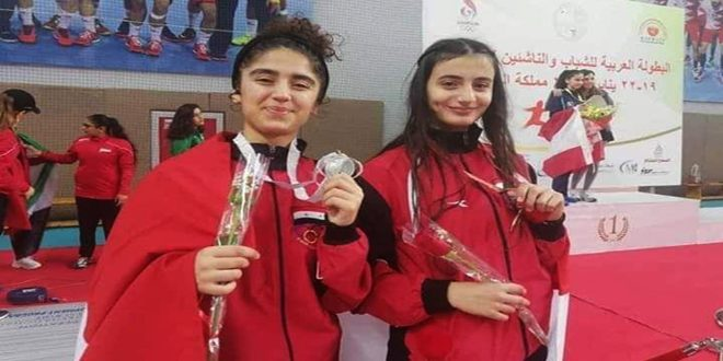 فضية وبرونزية لسورية في اليوم الأول للبطولة العربية للمبارزة