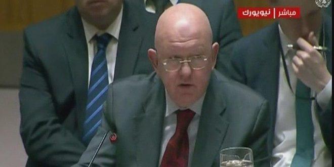 نيبنيزيا:ضرورة رفع الإجراءات القسرية المفروضة على الشعب السوري