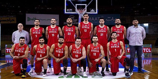 منتخب سورية لكرة السلة للرجال يلتقي نظيره السعودي في التصفيات الآسيوية غدا