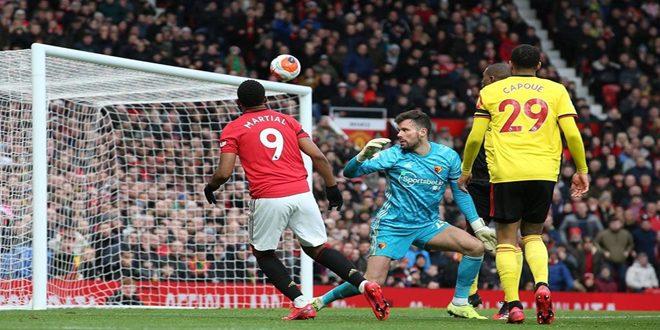 مانشستر يونايتد يفوز على واتفورد بالدوري الإنكليزي الممتاز