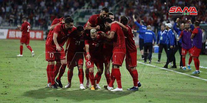 منتخب سورية لكرة القدم يحافظ على المركز الـ 79 عالمياً والـ 10 آسيوياً بتصنيف الفيفا
