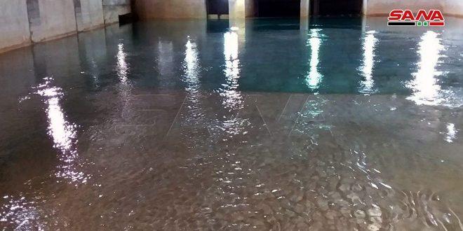 مياه دمشق وريفها: تصريف نبع الفيجة يصل إلى 9 أمتار مكعبة بالثانية وتزويد المدينة والريف المحيط بها منه دون تقنين