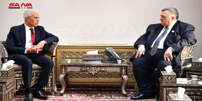 صباغ خلال لقائه السفير الجزائري بدمشق: نقدر مواقف الجزائر المشرفة تجاه سورية
