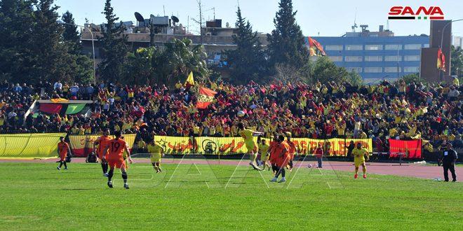 تشرين يفوز على الوحدة ويبتعد بصدارة الدوري الممتاز لكرة القدم