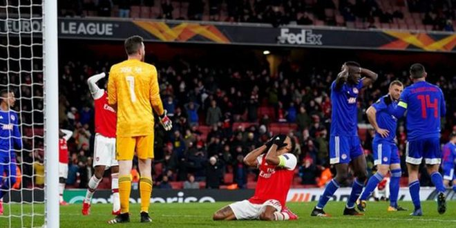 أرسنال يخرج من الدوري الأوروبي بكرة القدم وإنتر ميلان يضمن التأهل