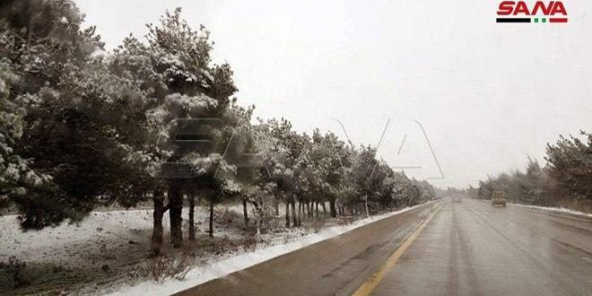 حالة الطرق العامة نتيجة الأحوال الجوية السائدة
