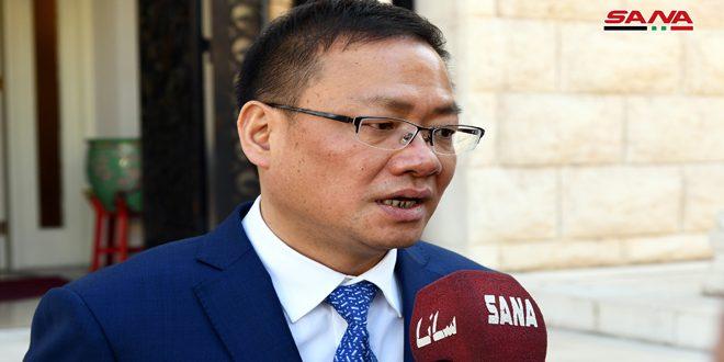 سفير الصين بدمشق: نشكر سورية على دعمها لنا في مواجهة فيروس كورونا