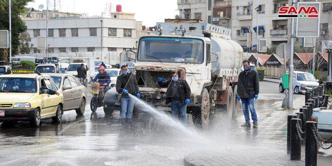 حملات تعقيم وتنظيف في عدد من المحافظات للتصدي لفيروس كورونا