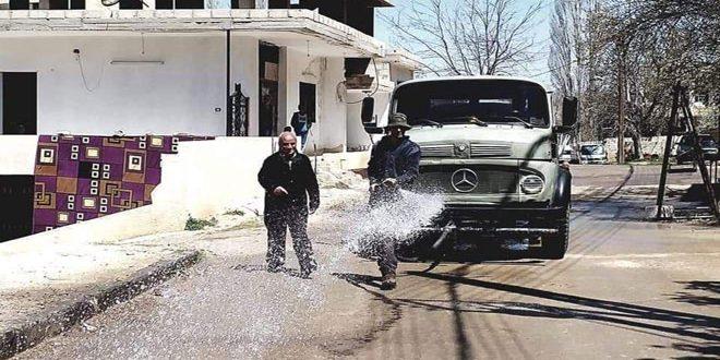 تنفيذ حملات نظافة وتعقيم بعدد من المحافظات في إطار التصدي لفيروس كورونا