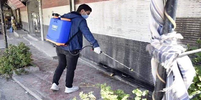 المؤسسات الخدمية في المحافظات مستمرة بحملات التعقيم والتنظيف
