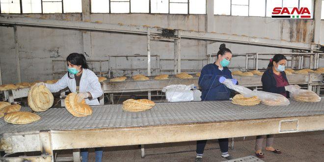 جهود حثيثة لعمال المخابز في اللاذقية على مدار الساعة لتأمين مادة الخبز للمواطنين