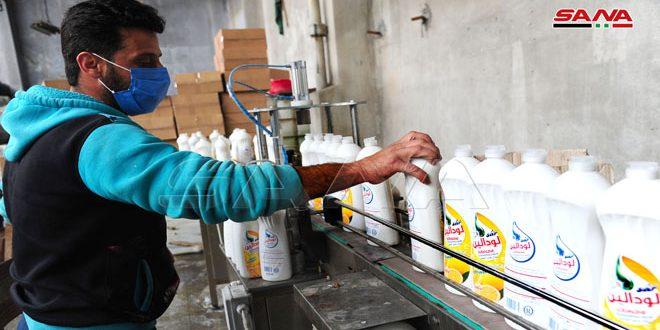 شركة سار… عمل على مدار الساعة لتلبية حاجة السوق من المعقمات والمنظفات للتصدي لكورونا