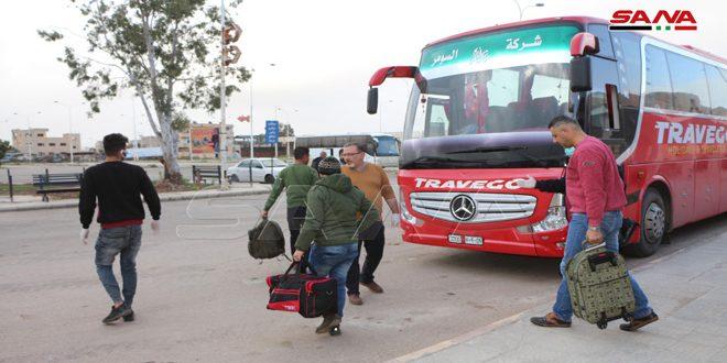 تسيير وسائل نقل من دمشق ودرعا لتأمين العسكريين المسافرين والمسرحين إلى المحافظات