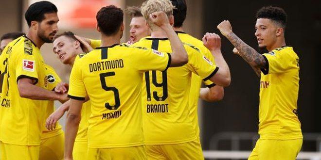 دورتموند يهزم بادربورن 6-1 بالدوري الألماني