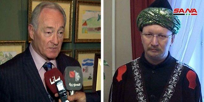 محلل سياسي ورجل دين روسيان: تجديد الاتحاد الأوروبي إجراءاته القسرية ضد سورية جريمة