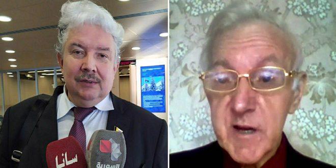 بابورين ودولغوف: تجديد الإجراءات القسرية ضد سورية يؤكد تبعية أوروبا للولايات المتحدة