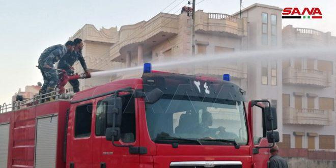 إخماد 6 حرائق بمناطق في درعا