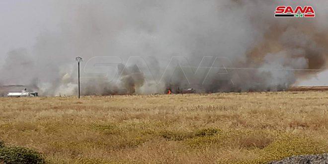 تضرر 6600 هكتار مزروعة بالقمح والشعير في الحسكة جراء الحرائق